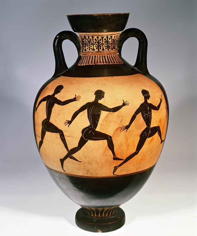Amphore panathénaïque, argile, Athènes, Grèce, 400 av. J.-C