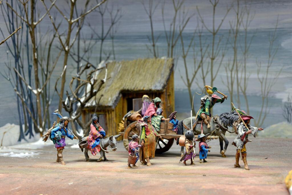 Les bohémiens en chemin Diorama d'Alexandre Ballada vers 1940