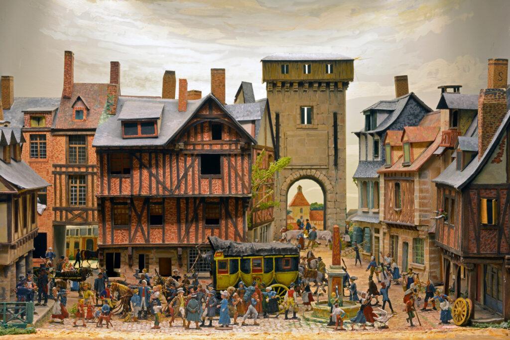 Le relais de poste en 1803 Diorama de Jean Bléreau, vers 1940