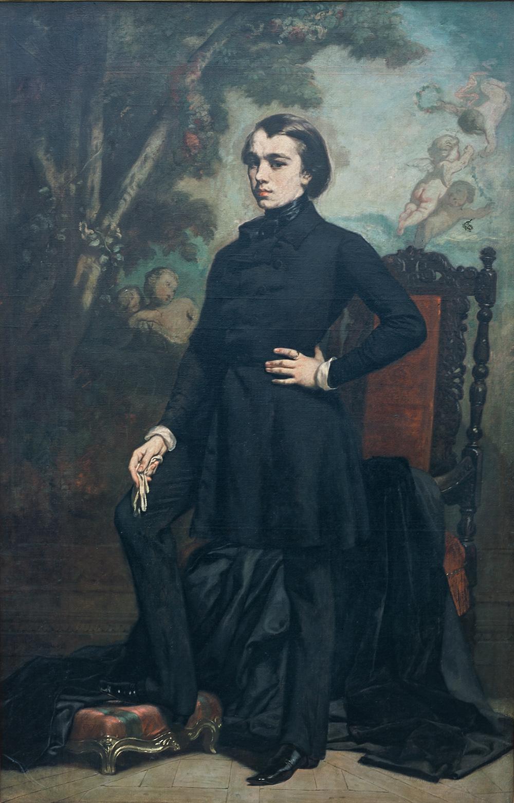 Portrait d'Henri Didier, Thomas COUTURE, huile sur toile, France, 1843