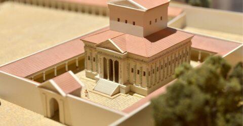maquette du temple de Champlieu
